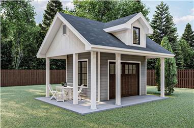 0-Bedroom, 168 Sq Ft Small Shed Plan - 100-1360 - Main Exterior