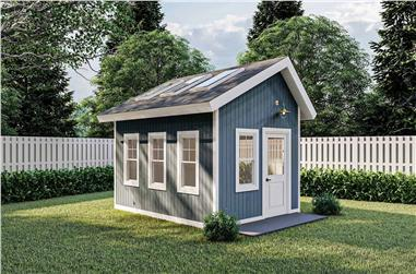 0-Bedroom, 140 Sq Ft Cottage House Plan - 100-1361 - Front Exterior