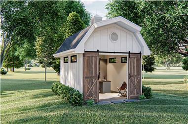 0-Bedroom, 192 Sq Ft Ranch Home Plan - 100-1363 - Main Exterior