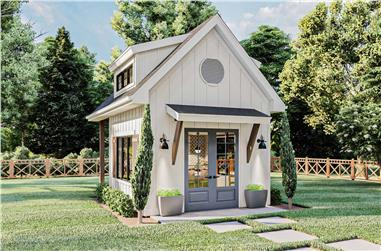 0-Bedroom, 224 Sq Ft Farmhouse House Plan - 100-1364 - Front Exterior