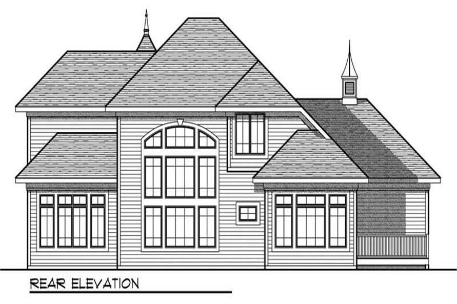 Home Plan Rear Elevation of this 4-Bedroom,3199 Sq Ft Plan -101-1000