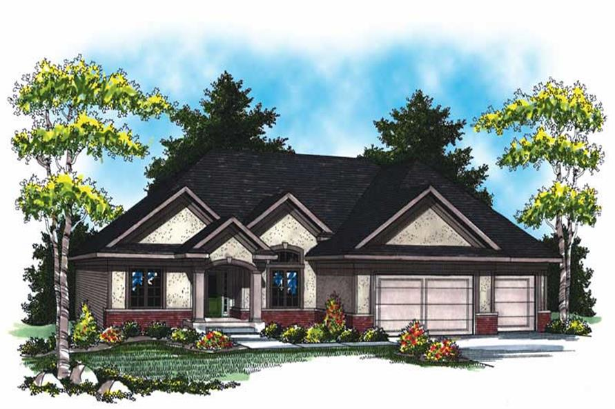 3-Bedroom, 2007 Sq Ft Country Home Plan - 101-1003 - Main Exterior
