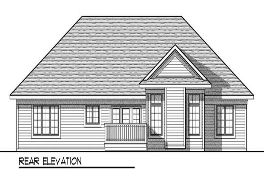 Home Plan Rear Elevation of this 3-Bedroom,2007 Sq Ft Plan -101-1003