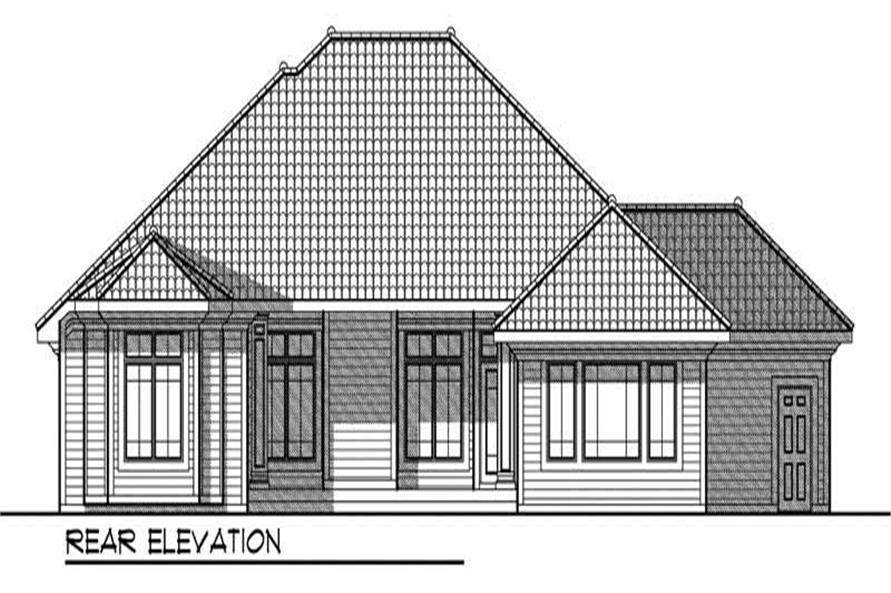 Home Plan Rear Elevation of this 2-Bedroom,2238 Sq Ft Plan -101-1004
