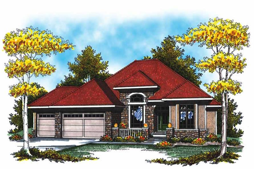 Main image for house plan # 17012