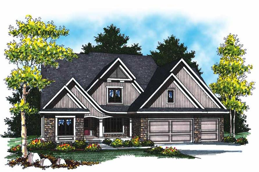 Main image for house plan # 17020
