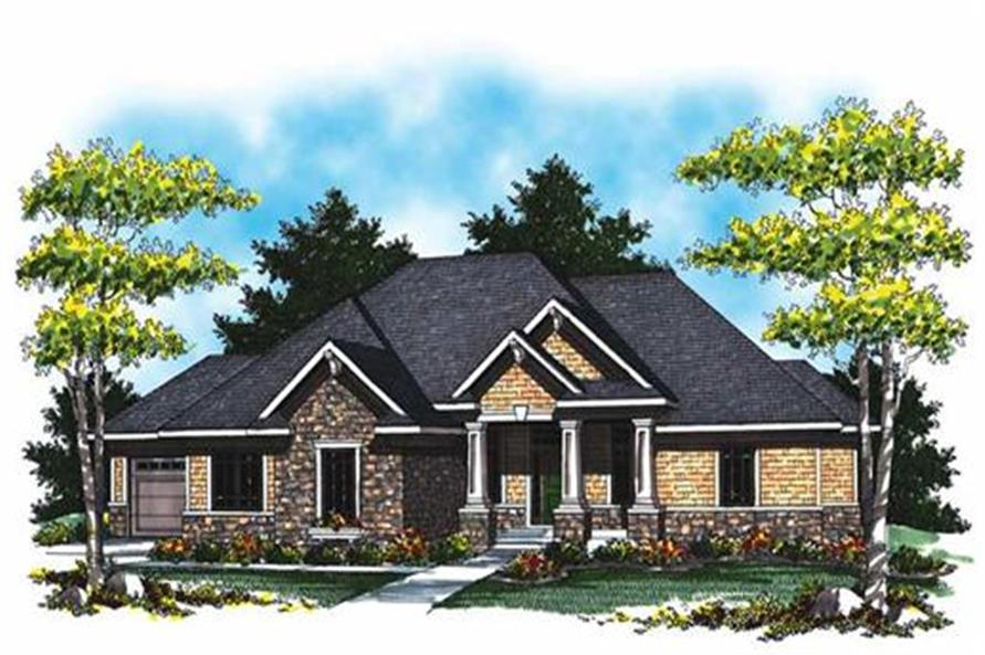 Home Plan Rendering of this 4-Bedroom,3796 Sq Ft Plan -101-1008