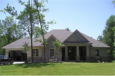 4-Bedroom, 3796 Sq Ft Country Home Plan - 101-1008 - Main Exterior