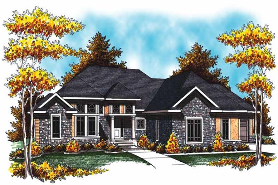 4-Bedroom, 3605 Sq Ft Country Home Plan - 101-1010 - Main Exterior