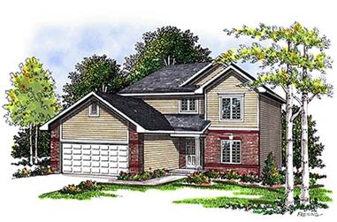 3-Bedroom, 1474 Sq Ft Small House Plans - 101-1011 - Main Exterior
