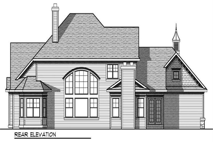 Home Plan Rear Elevation of this 4-Bedroom,3945 Sq Ft Plan -101-1012