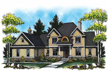 4-Bedroom, 3945 Sq Ft Country Home Plan - 101-1012 - Main Exterior