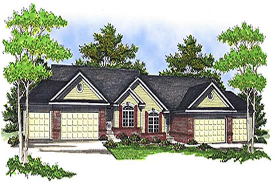3-Bedroom, 4578 Sq Ft Multi-Unit Home Plan - 101-1015 - Main Exterior