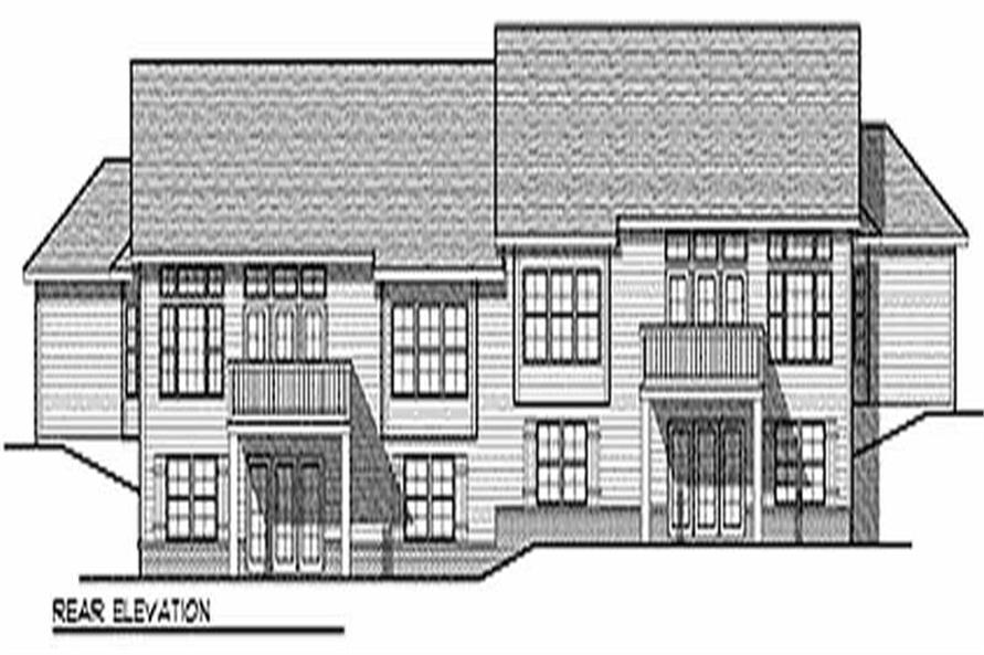 Home Plan Rear Elevation of this 3-Bedroom,4578 Sq Ft Plan -101-1015