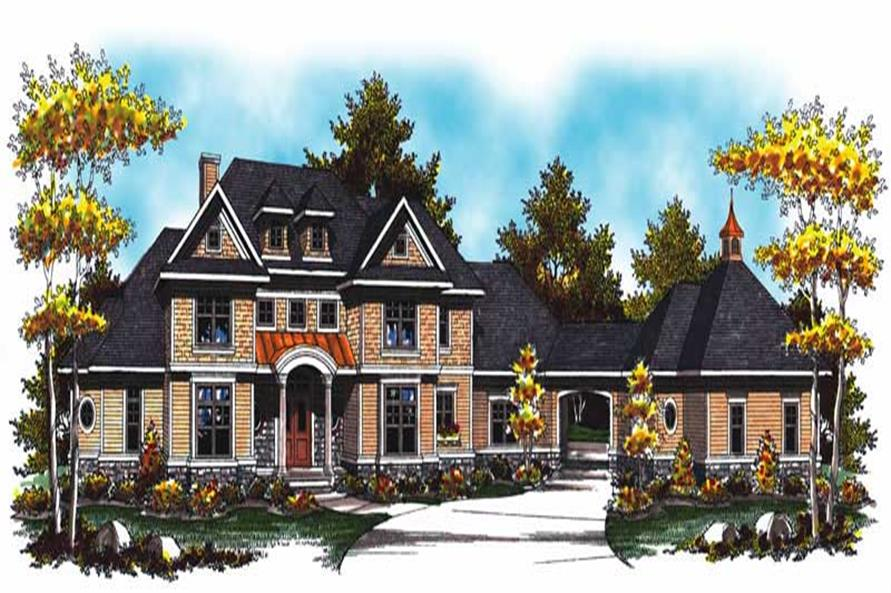 4-Bedroom, 4308 Sq Ft European Home Plan - 101-1017 - Main Exterior