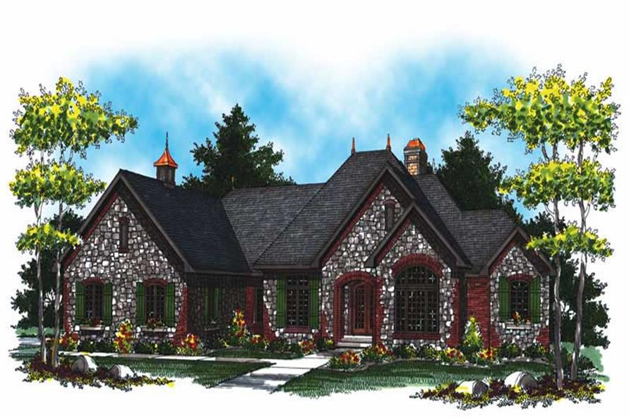 4-Bedroom, 5104 Sq Ft Country Home Plan - 101-1018 - Main Exterior