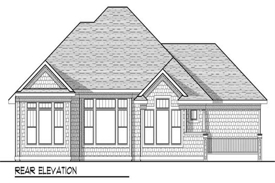 Home Plan Rear Elevation of this 2-Bedroom,2107 Sq Ft Plan -101-1023