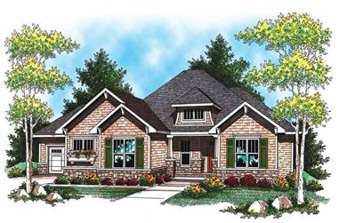 2-Bedroom, 2107 Sq Ft Ranch House Plan - 101-1023 - Front Exterior