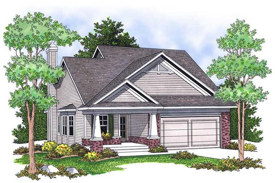 2-Bedroom, 1346 Sq Ft Ranch House Plan - 101-1025 - Front Exterior