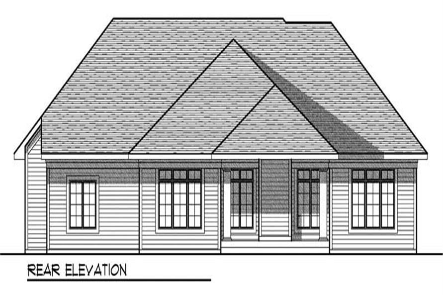 Home Plan Rear Elevation of this 2-Bedroom,2434 Sq Ft Plan -101-1026