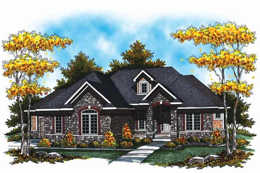 3-Bedroom, 2764 Sq Ft Country House Plan - 101-1027 - Front Exterior