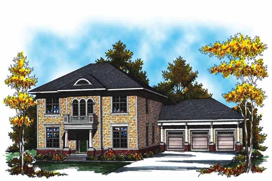 4-Bedroom, 3020 Sq Ft Country House Plan - 101-1028 - Front Exterior