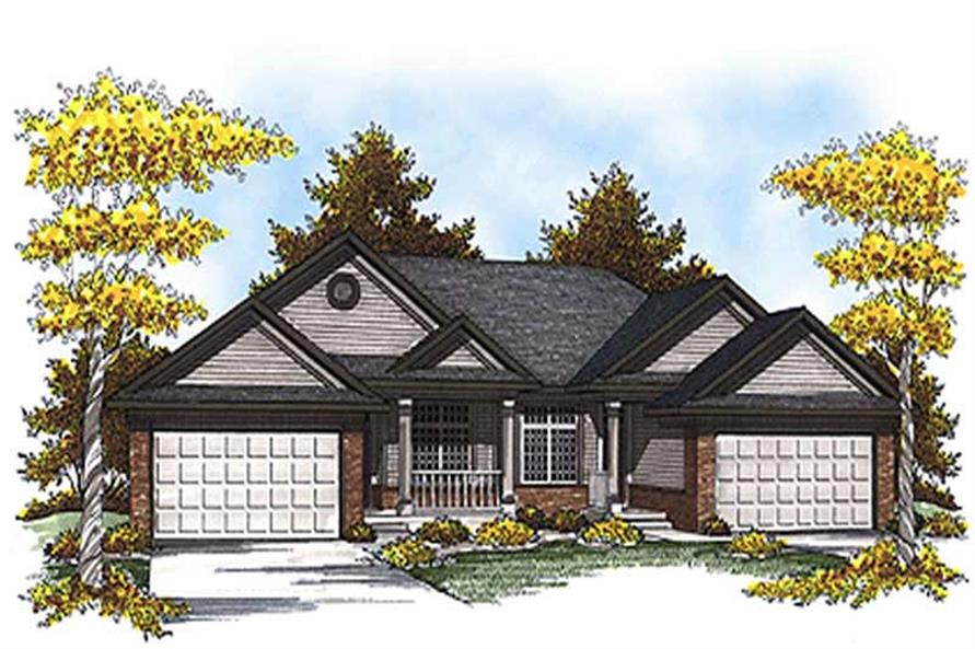 2-Bedroom, 2515 Sq Ft Colonial Home Plan - 101-1030 - Main Exterior