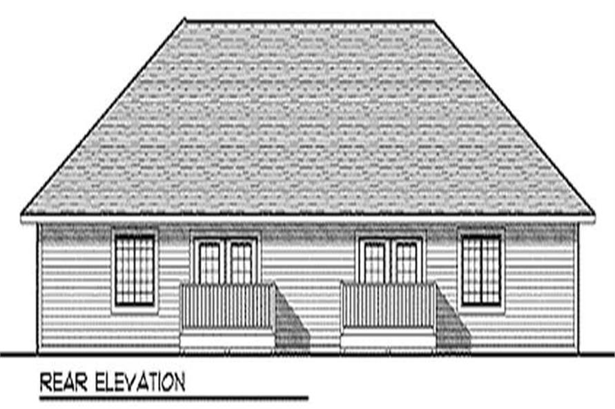 Home Plan Rear Elevation of this 2-Bedroom,2515 Sq Ft Plan -101-1030