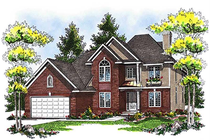 4-Bedroom, 2484 Sq Ft Colonial Home Plan - 101-1032 - Main Exterior