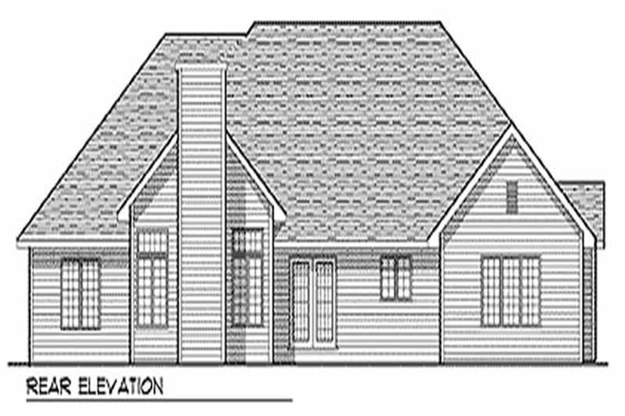 Home Plan Rear Elevation of this 3-Bedroom,2380 Sq Ft Plan -101-1034