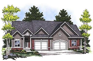 2-Bedroom, 2998 Sq Ft Multi-Unit House Plan - 101-1035 - Front Exterior