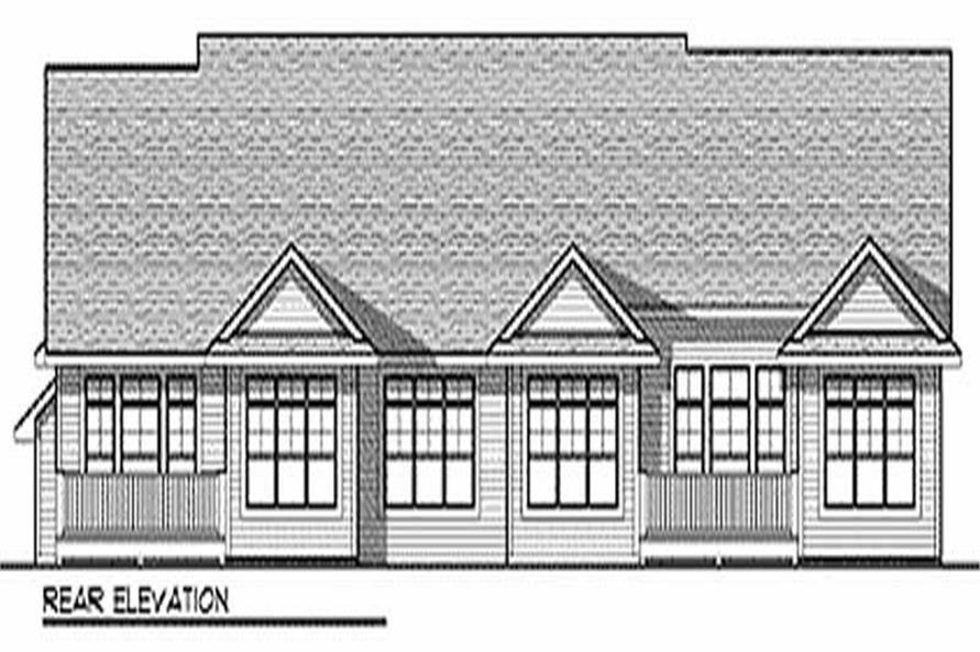 Home Plan Rear Elevation of this 2-Bedroom,2998 Sq Ft Plan -101-1035