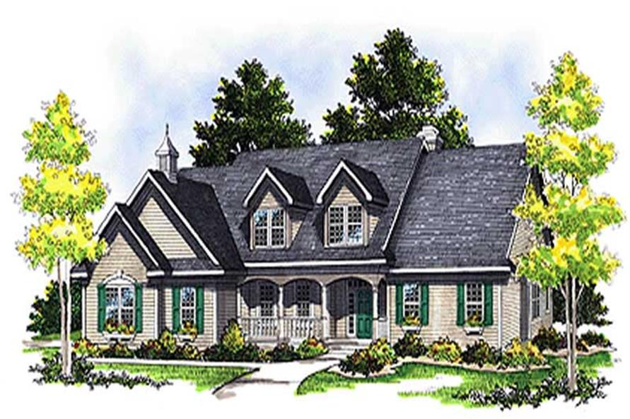 3-Bedroom, 2513 Sq Ft Colonial House Plan - 101-1037 - Front Exterior