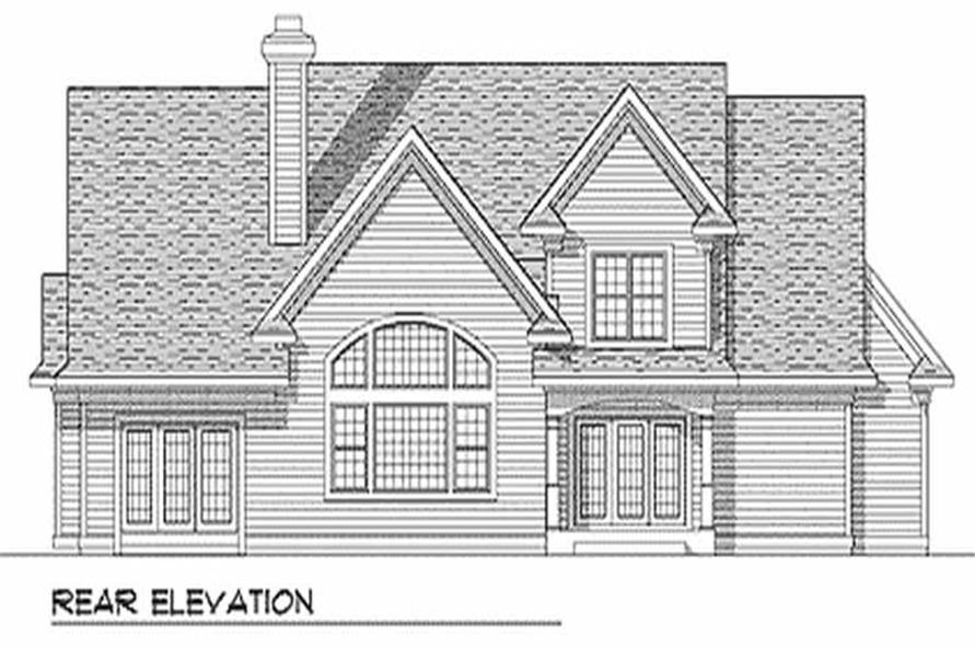 Home Plan Rear Elevation of this 3-Bedroom,2513 Sq Ft Plan -101-1037
