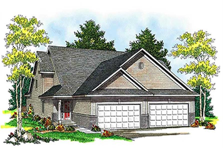 3-Bedroom, 3568 Sq Ft Multi-Unit House Plan - 101-1041 - Front Exterior