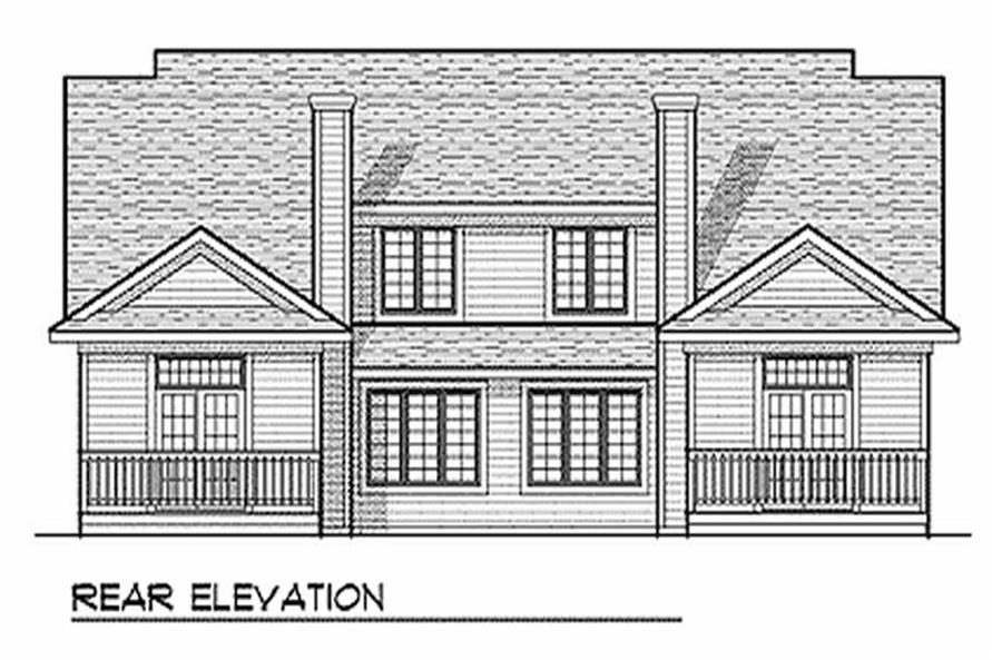 Home Plan Rear Elevation of this 3-Bedroom,3568 Sq Ft Plan -101-1041