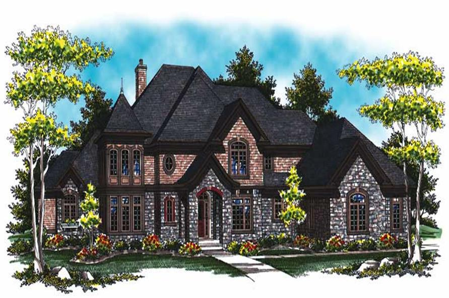 4-Bedroom, 5140 Sq Ft Country Home Plan - 101-1043 - Main Exterior