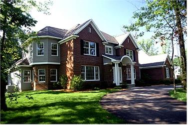 4-Bedroom, 3291 Sq Ft Colonial House Plan - 101-1045 - Front Exterior