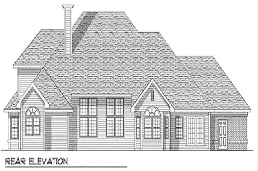 Home Plan Rear Elevation of this 4-Bedroom,3291 Sq Ft Plan -101-1045