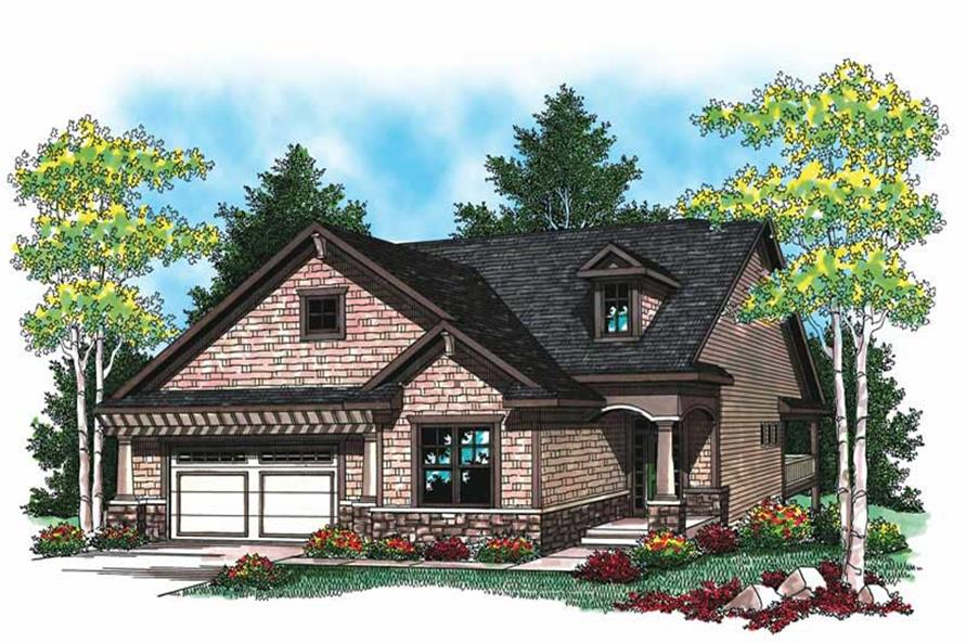 2-Bedroom, 1580 Sq Ft Small House Plans - 101-1046 - Front Exterior