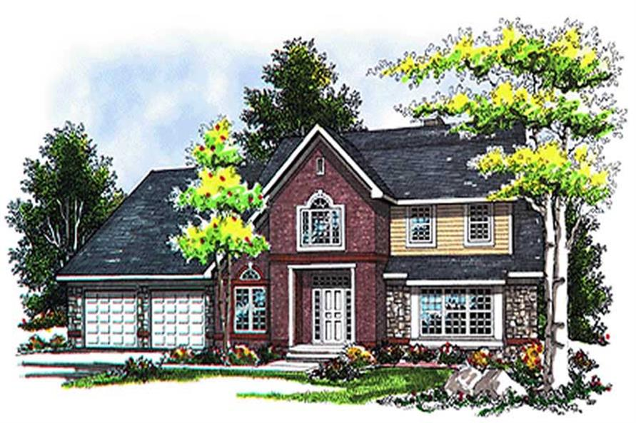 4-Bedroom, 3078 Sq Ft Country House Plan - 101-1048 - Front Exterior