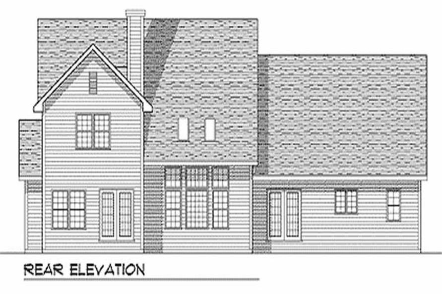 Home Plan Rear Elevation of this 4-Bedroom,3078 Sq Ft Plan -101-1048