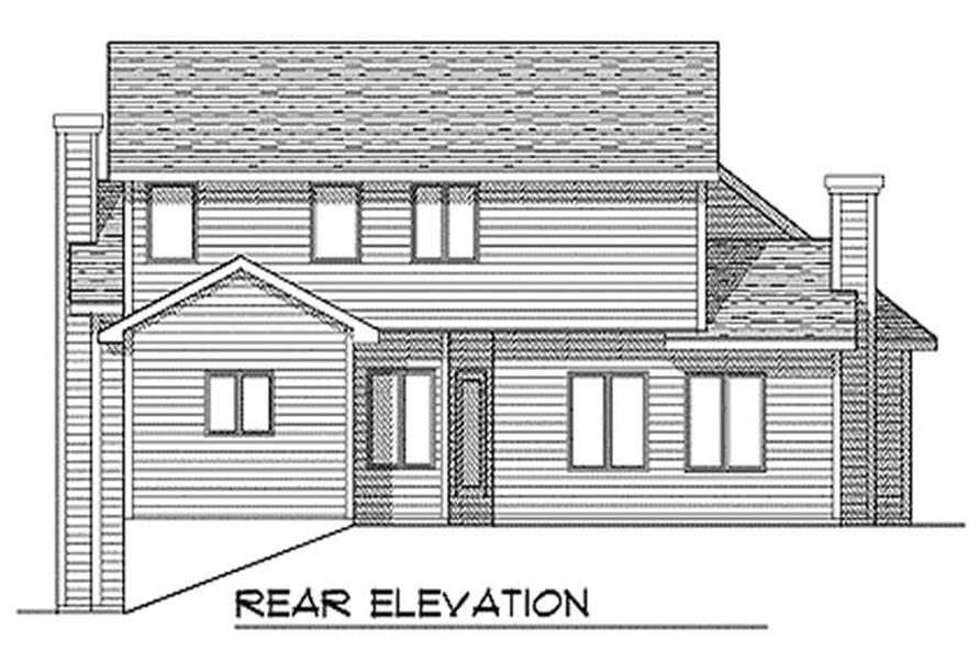 Home Plan Rear Elevation of this 3-Bedroom,2450 Sq Ft Plan -101-1049