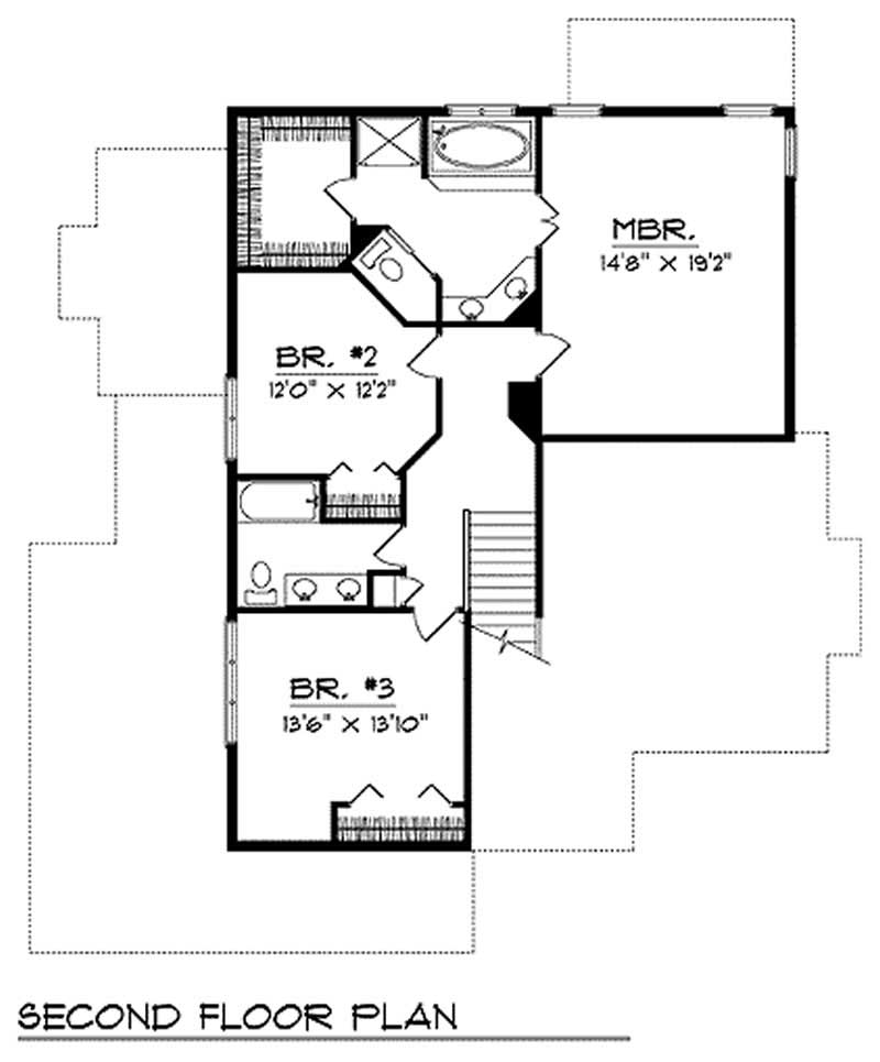 Multi level home plan 3 bedrms 2 5 baths 2450 sq ft for Multi level floor plans