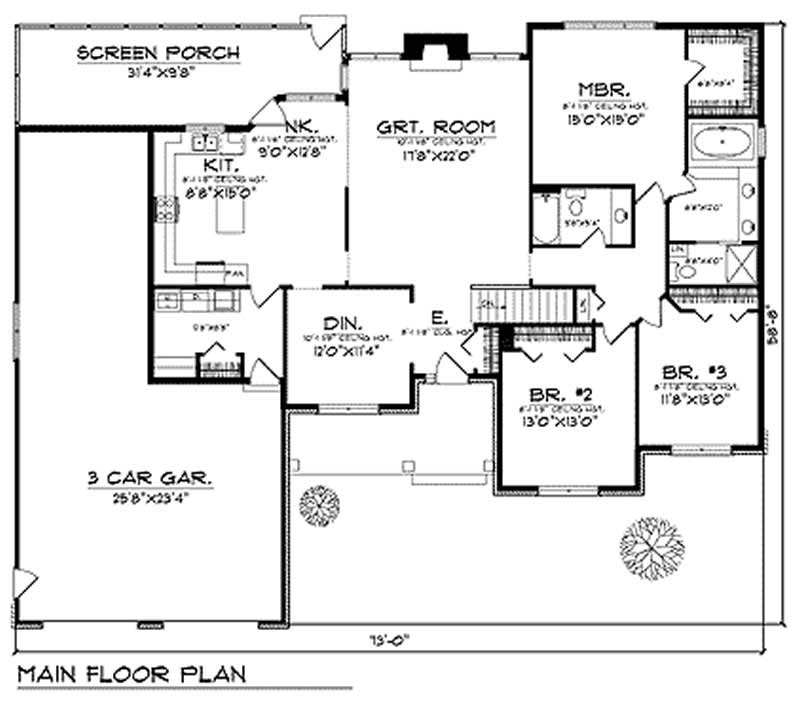 Country craftsman home with 3 bedrooms 2153 sq ft for 1050 sq ft floor plans