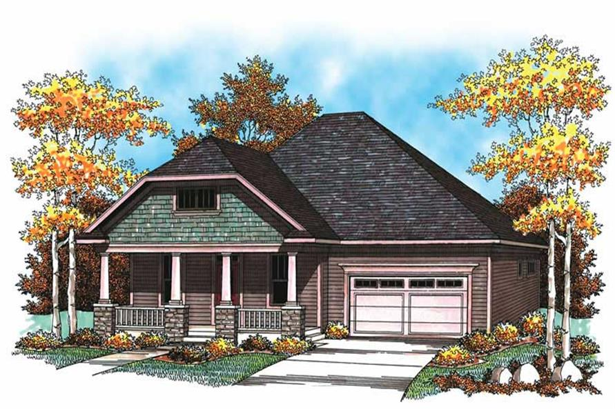 2-Bedroom, 1772 Sq Ft Ranch Home Plan - 101-1055 - Main Exterior