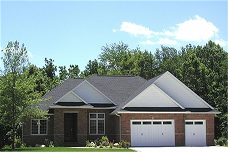 Home Exterior Photograph of this 3-Bedroom,1694 Sq Ft Plan -101-1060