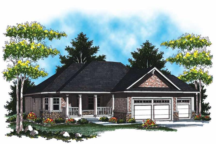 3-Bedroom, 1706 Sq Ft Country House Plan - 101-1061 - Front Exterior