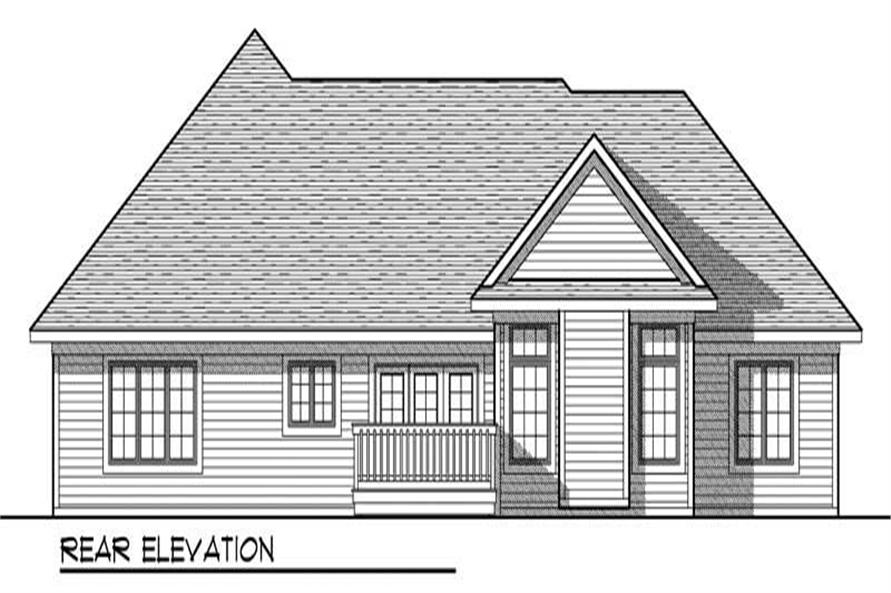 Home Plan Rear Elevation of this 3-Bedroom,1706 Sq Ft Plan -101-1061