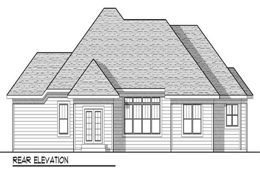 Home Plan Rear Elevation of this 3-Bedroom,2117 Sq Ft Plan -101-1063
